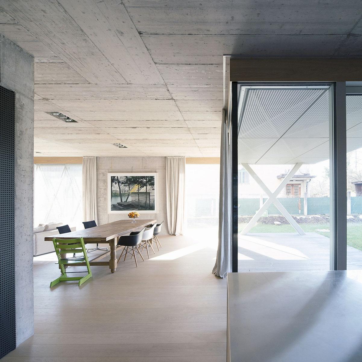 Villa Criss-Cross Envelope Located in Ljubljana by OFIS Architects-11
