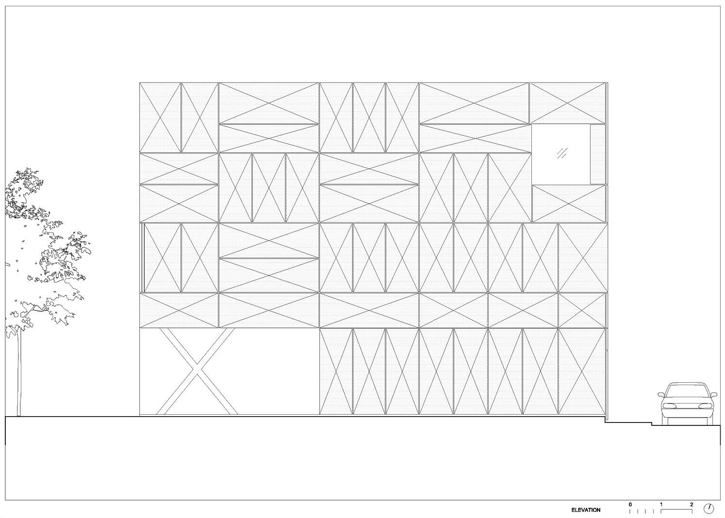 Villa Criss-Cross Envelope Located in Ljubljana by OFIS Architects-29