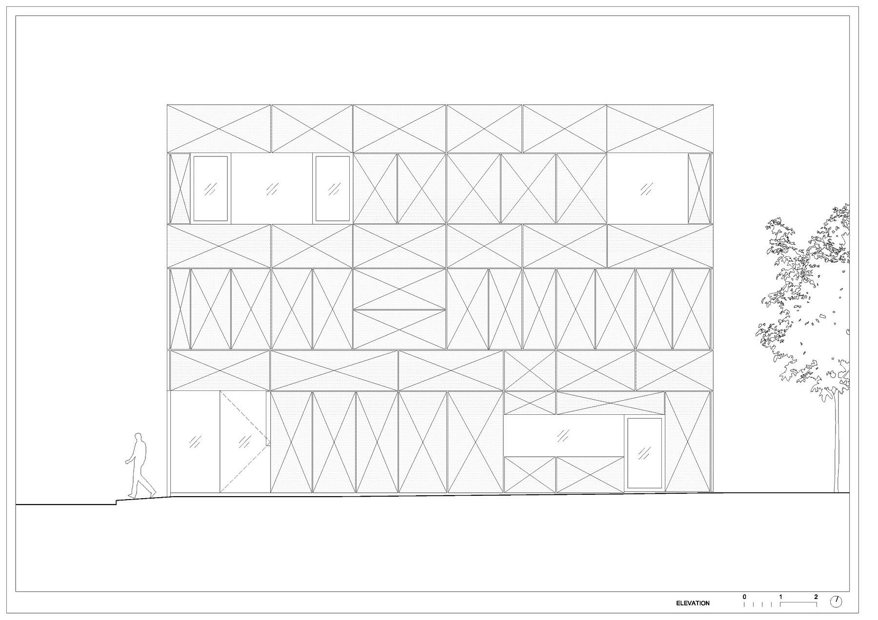 Villa Criss-Cross Envelope Located in Ljubljana by OFIS Architects-32