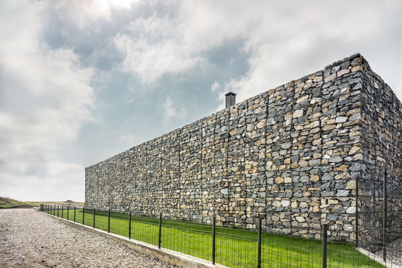 Walls made of gabion and awesome 360 degree views of Observation house by I O architects-01