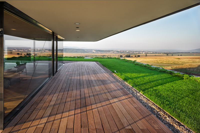 Walls made of gabion and awesome 360 degree views of Observation house by I O architects-07