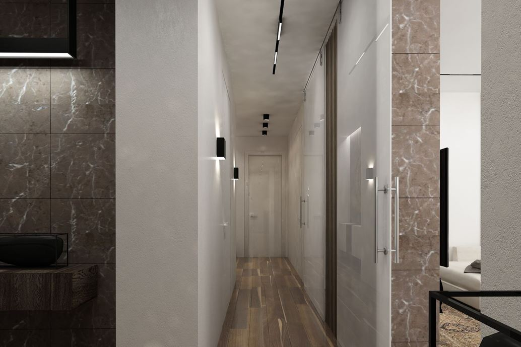 Wood theme apartment in St. Petersburg by Pavel Isaev-17