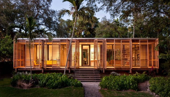 Wooden Tropical Brillhart House Located in Miami by Brillhart Architecture