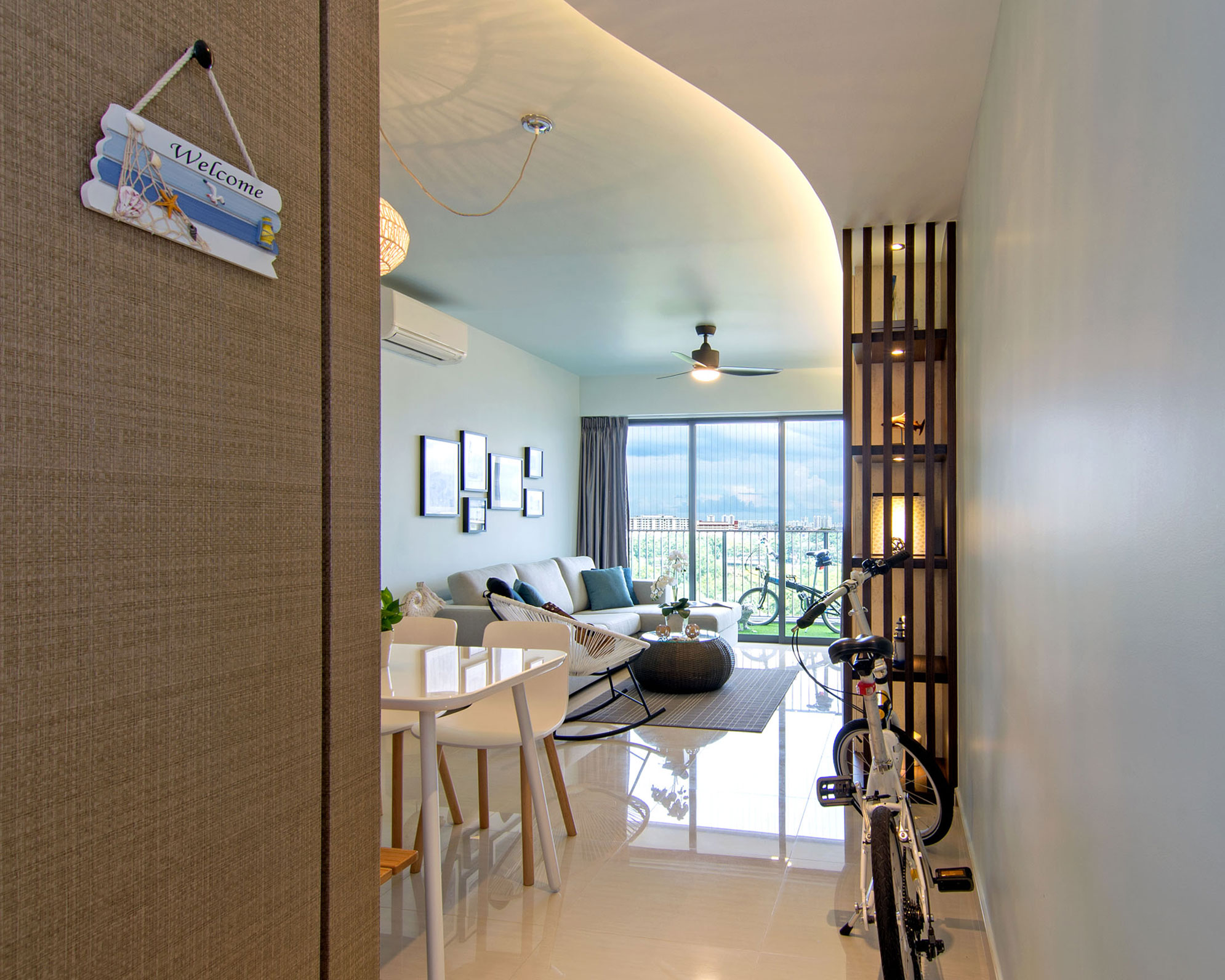 Beach house urban apartment in Singapore by Vievva Designers-02