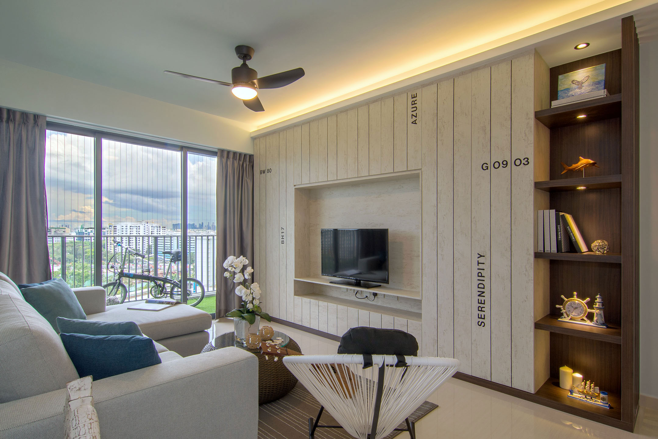 Beach House Urban Apartment In Singapore By Vievva Designers