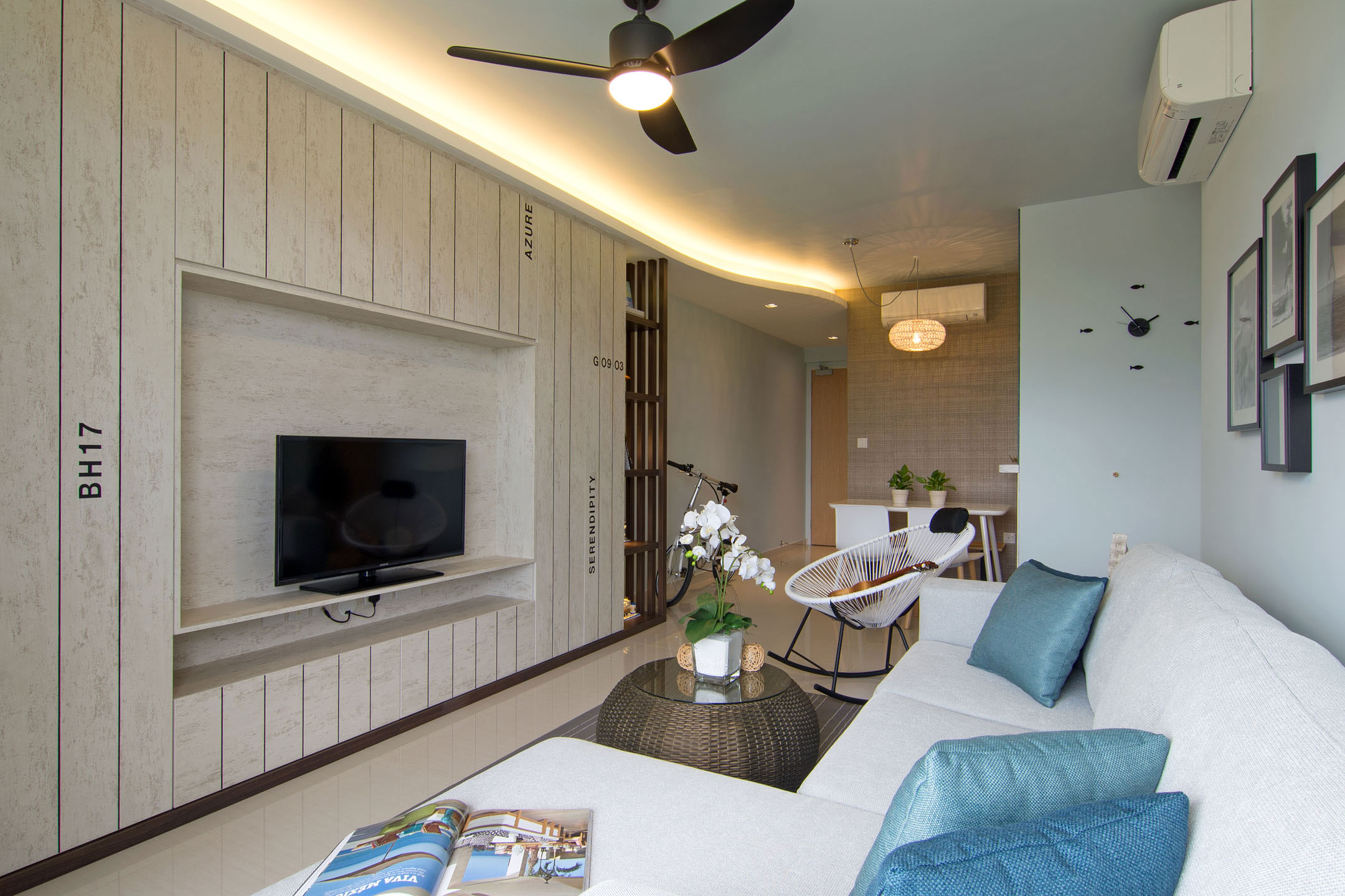 Beach house urban apartment in Singapore by Vievva Designers-09