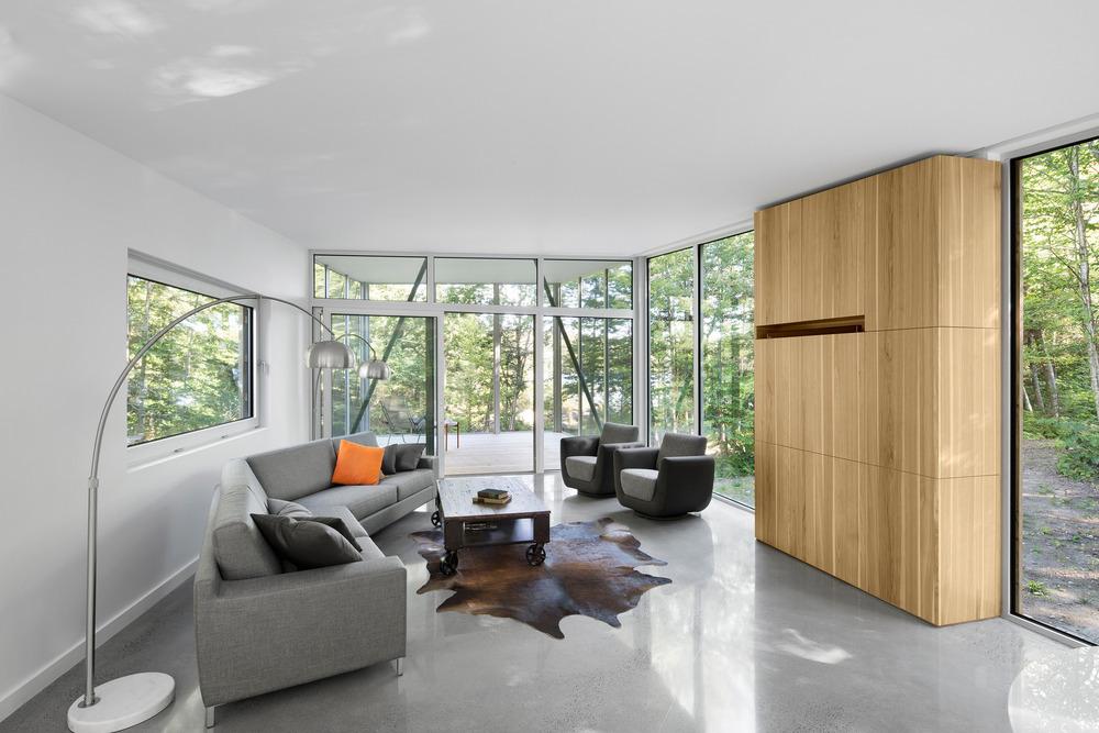 House on Lac Grenier by Paul Bernier Architecte-11