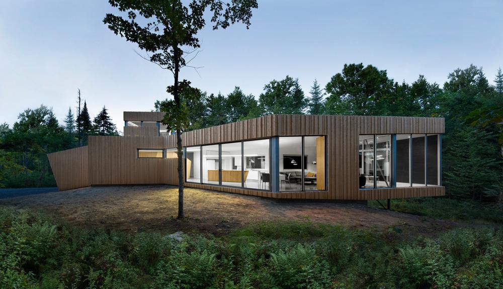 House on Lac Grenier by Paul Bernier Architecte-14