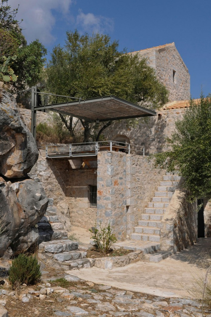 Maina Villa located on an abandoned 18th century megalithic two-storey building by Z-level-05