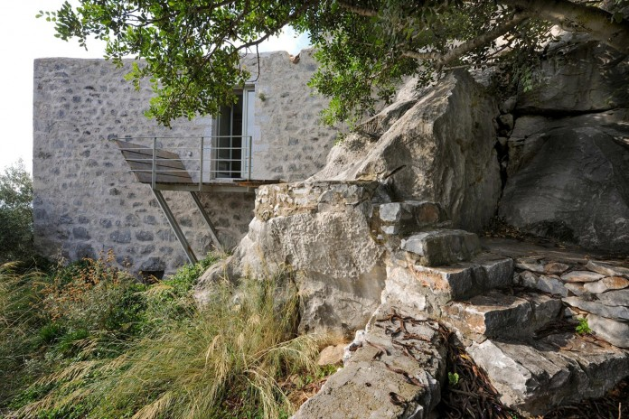 Maina Villa located on an abandoned 18th century megalithic two-storey building by Z-level-10