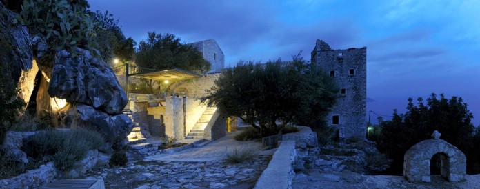 Maina Villa located on an abandoned 18th century megalithic two-storey building by Z-level-27