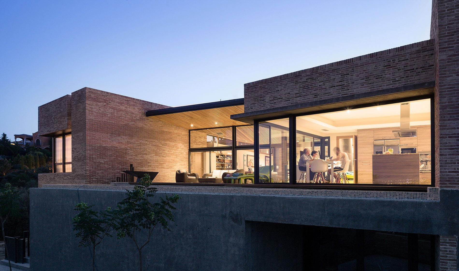 Architectural home design brick house by mariano molina - Molino de la hoz ...