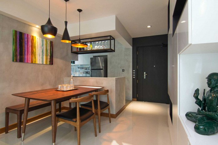 Stylish apartment for young couple in Singapore by Vievva Designers-01