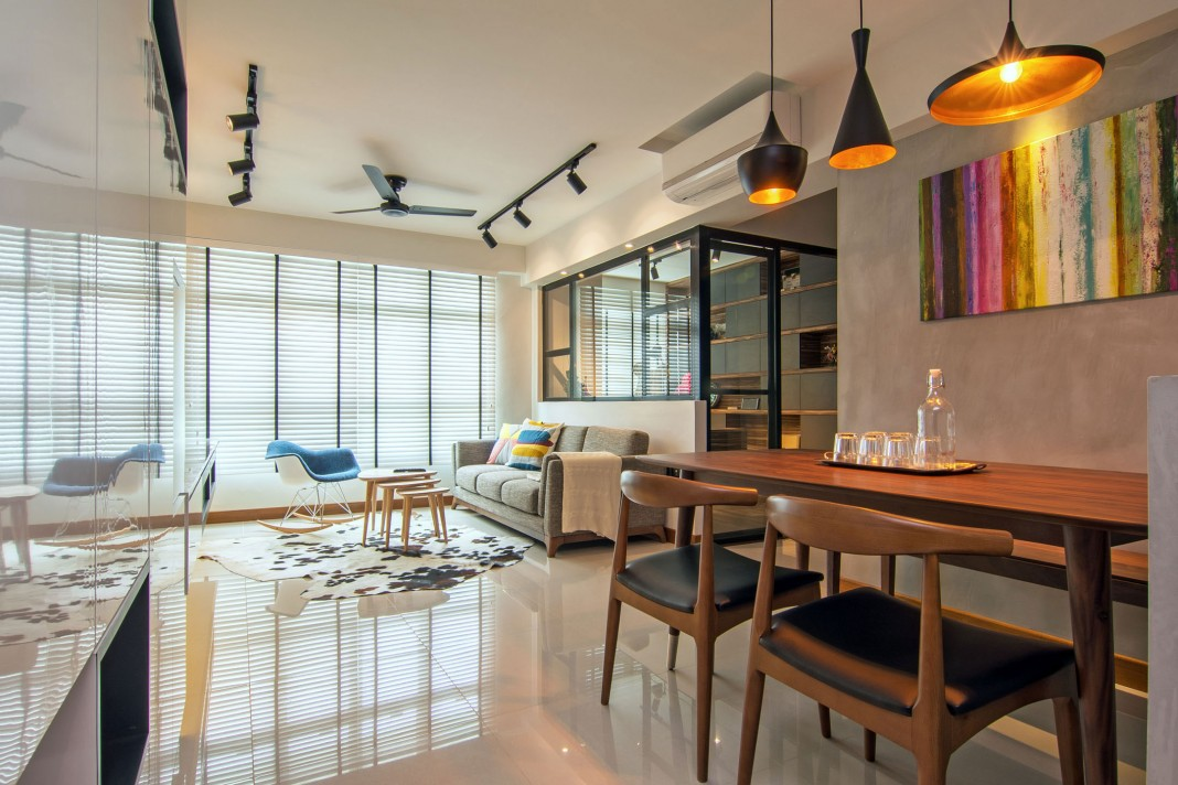 Stylish apartment for young couple in Singapore by Vievva Designers