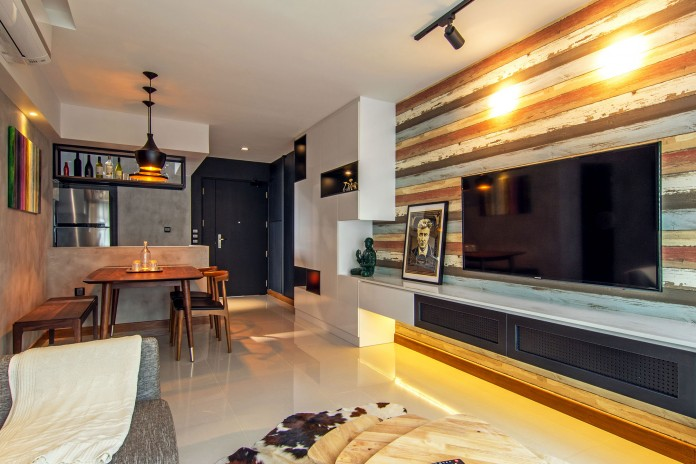 Stylish apartment for young couple in Singapore by Vievva Designers-07