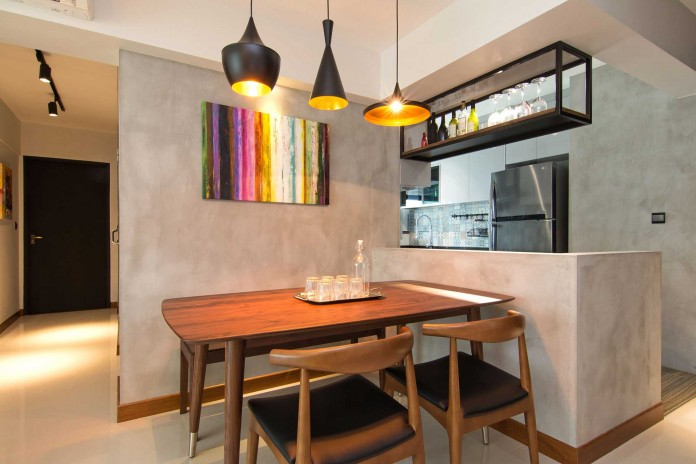 Stylish apartment for young couple in Singapore by Vievva Designers-08
