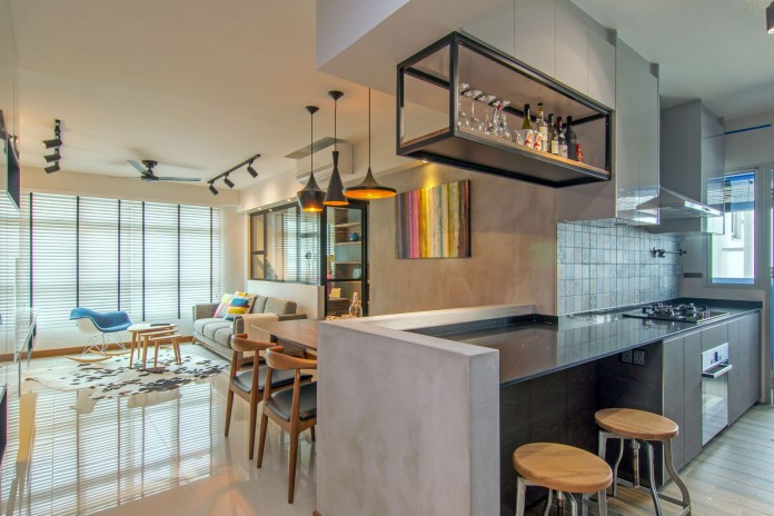Stylish apartment for young couple in Singapore by Vievva Designers-09