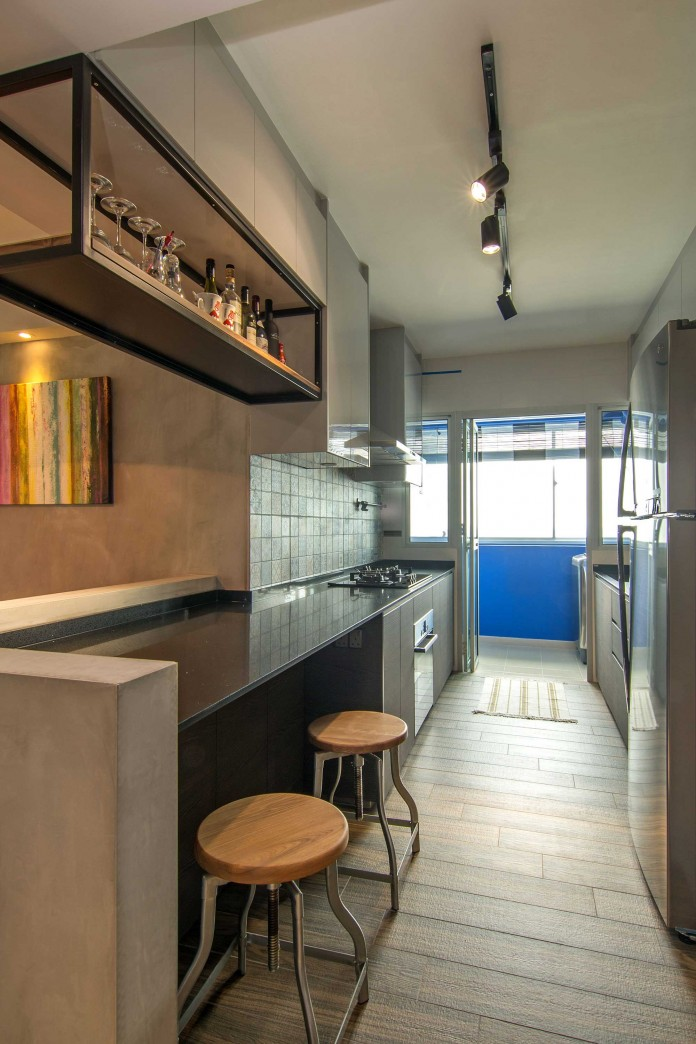 Stylish apartment for young couple in Singapore by Vievva Designers-10