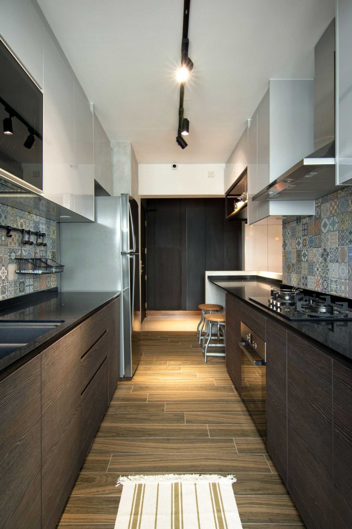 Stylish apartment for young couple in Singapore by Vievva Designers-12