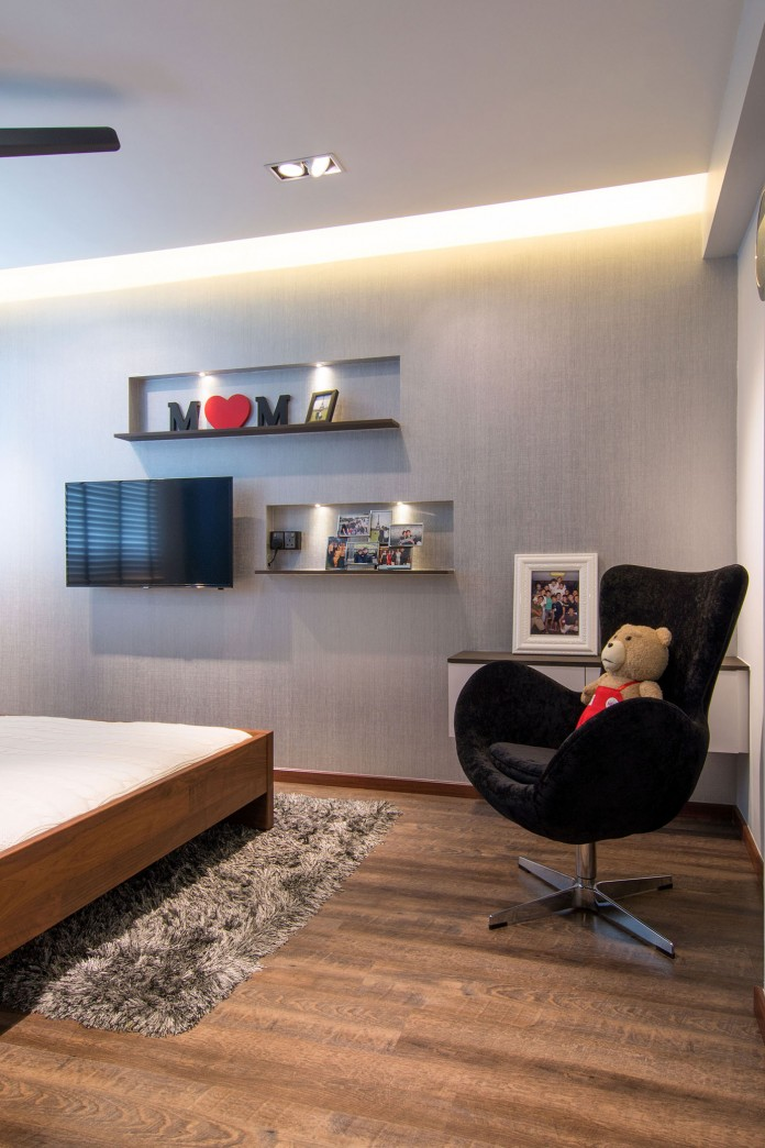 Stylish apartment for young couple in Singapore by Vievva Designers-13