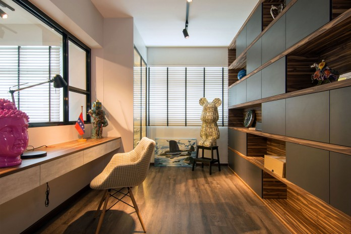 Stylish apartment for young couple in Singapore by Vievva Designers-17