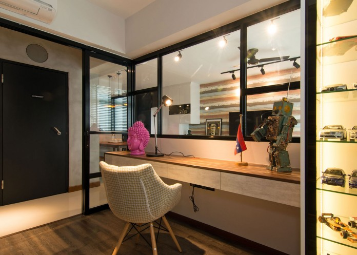 Stylish apartment for young couple in Singapore by Vievva Designers-18