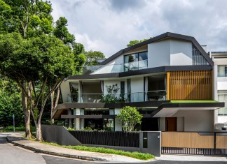 Trevose House situated in a lushly planted residential neighbourhood in Singapore A D LAB