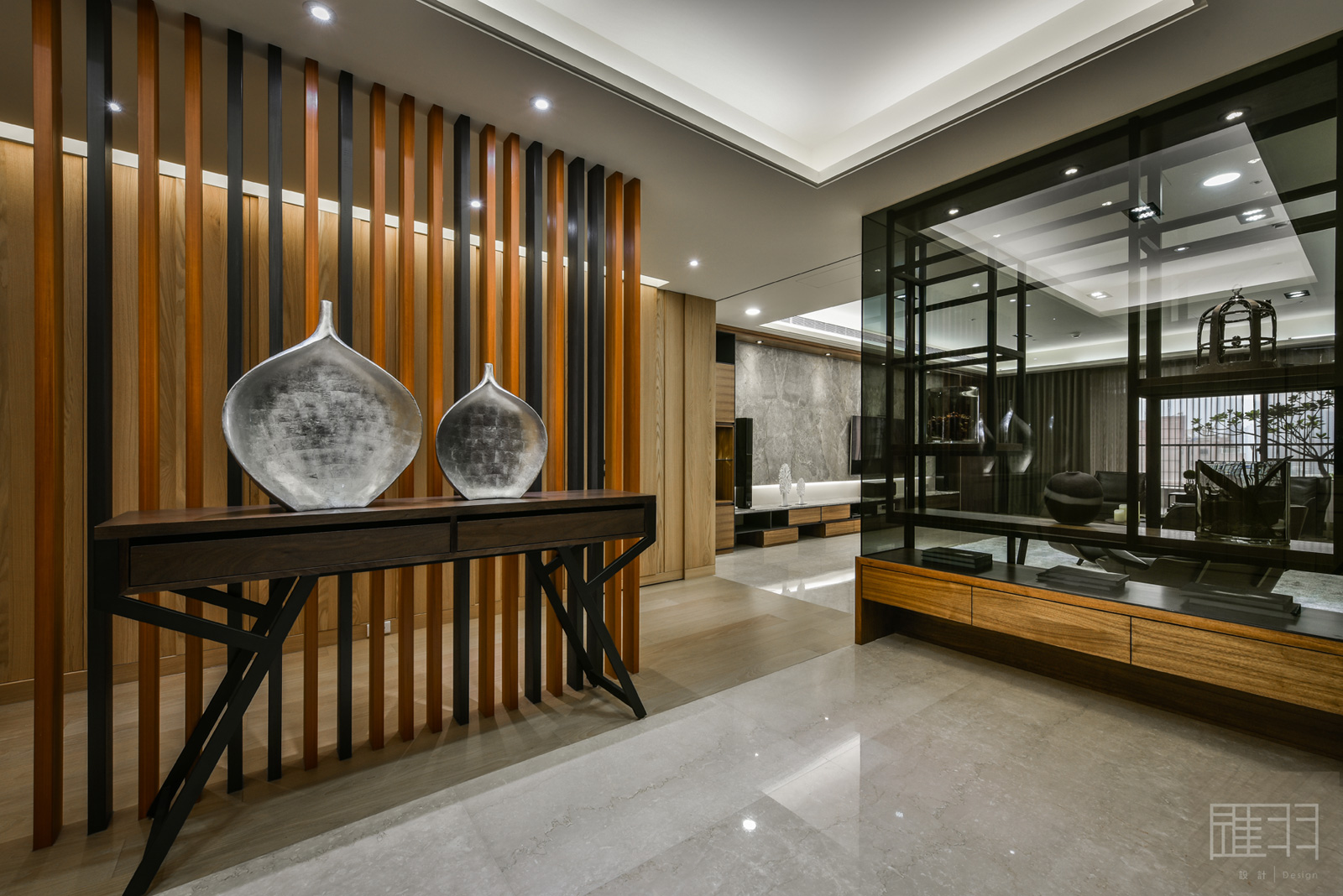 Wood and earthy colour palette modern apartment by Manson Hsiao of Hui-yu Interior Design-01