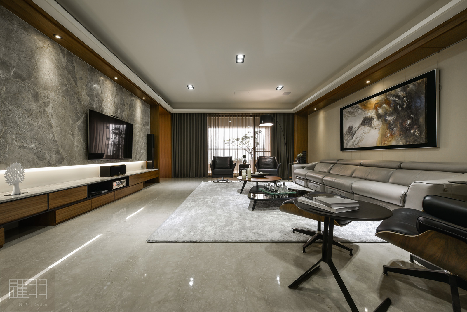 Wood and earthy colour palette modern apartment by Manson Hsiao of Hui-yu Interior Design-04