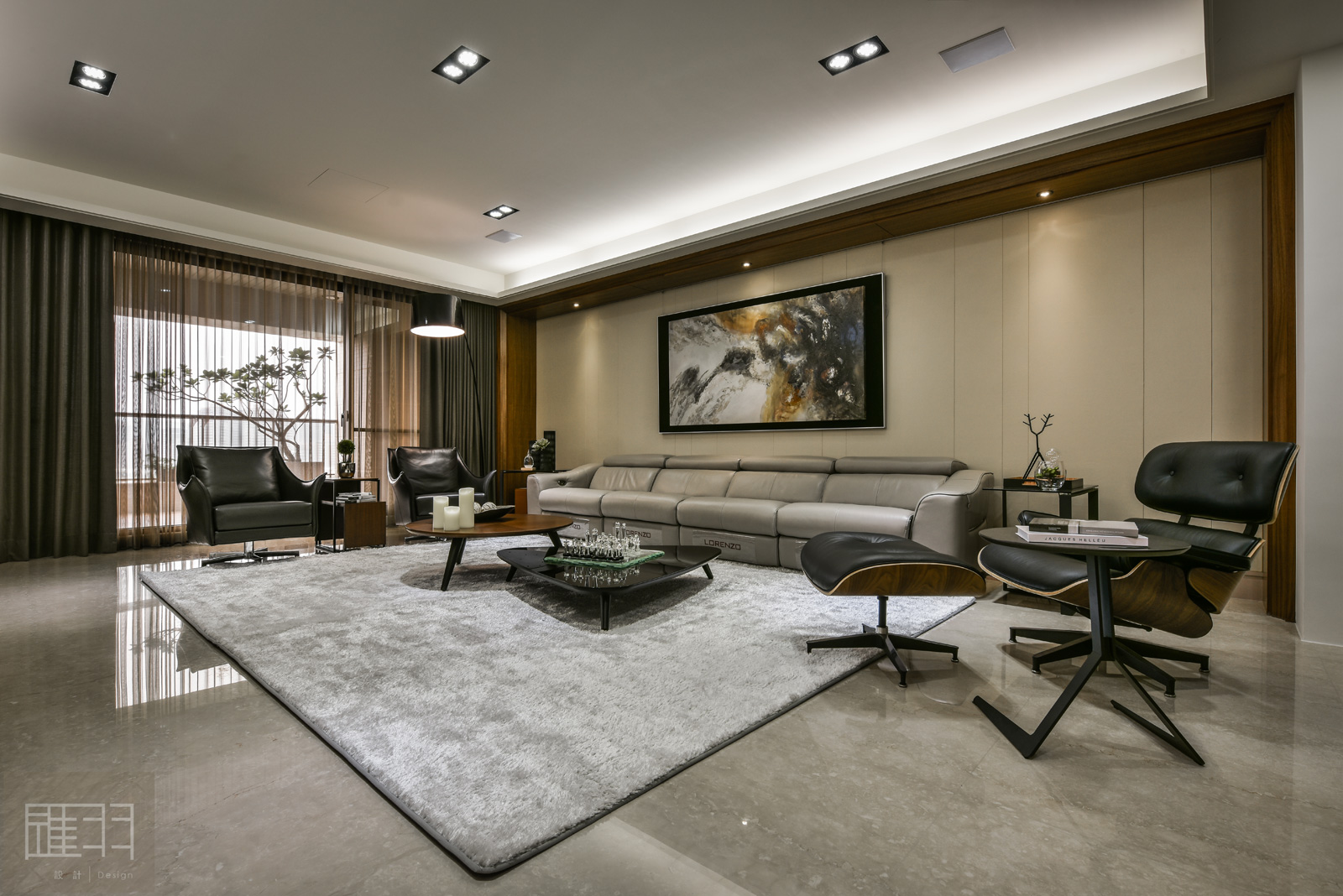 Wood and earthy colour palette modern apartment by Manson Hsiao of Hui-yu Interior Design-07