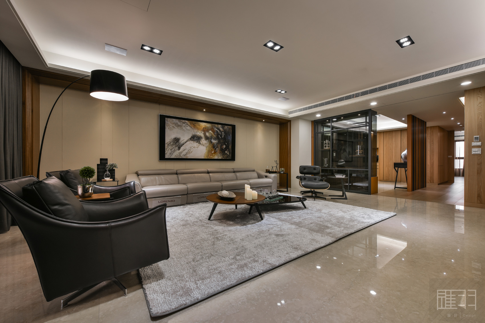Wood and earthy colour palette modern apartment by Manson Hsiao of Hui-yu Interior Design-08