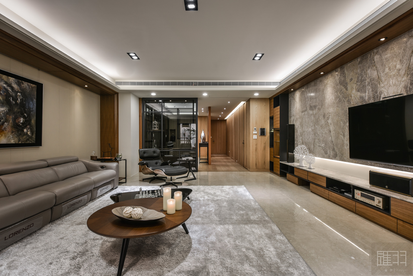 Wood and earthy colour palette modern apartment by Manson Hsiao of Hui-yu Interior Design-09