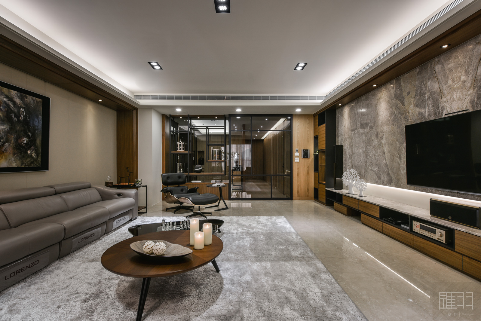 Wood and earthy colour palette modern apartment by Manson Hsiao of Hui-yu Interior Design-10