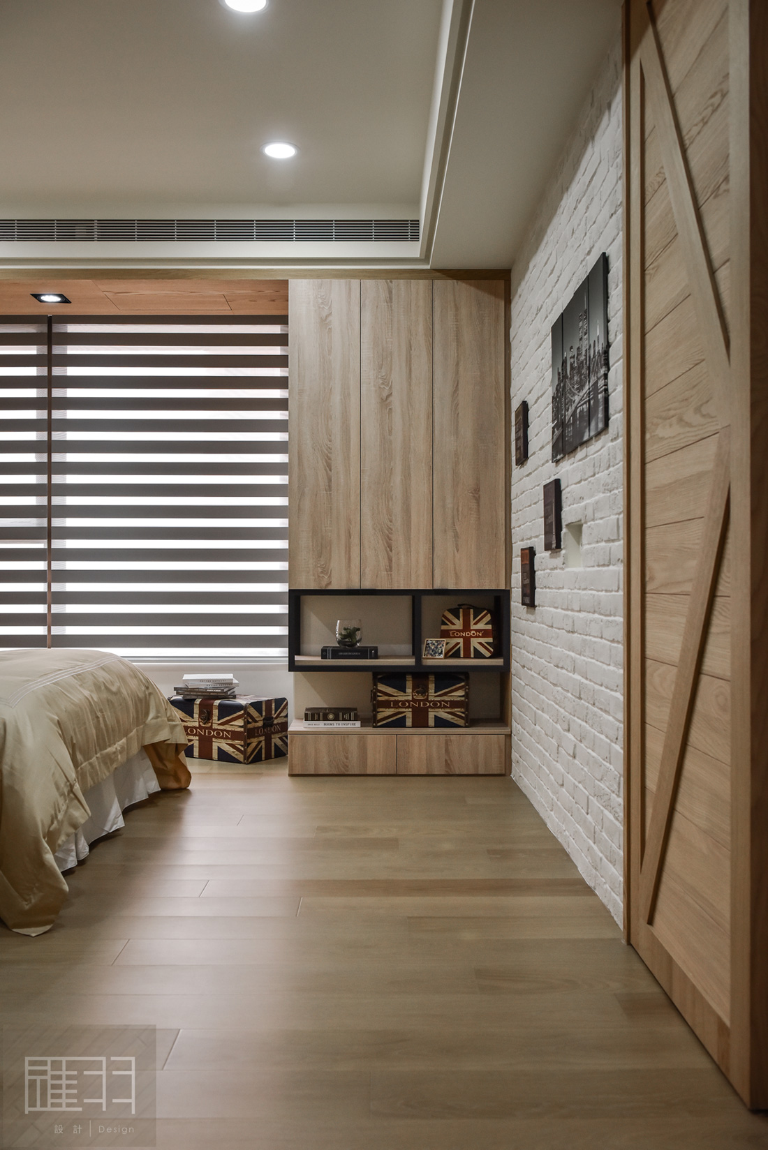 Wood and earthy colour palette modern apartment by Manson Hsiao of Hui-yu Interior Design-21