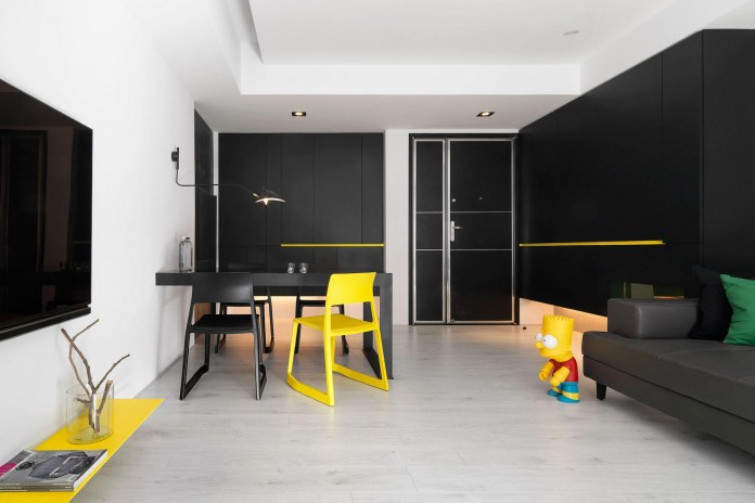 Black,-white-and-yellow-accents-of-H-Residence-by-Z-AXIS-DESIGN-01