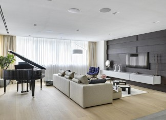 Elegant apartment for a pianist in Moscow by Alexandra Fedorova