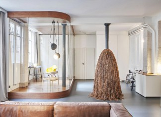 Glass & Walnut Loft in Paris by CUT Architectures