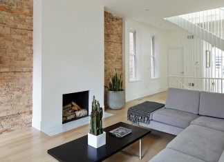 Modern renovation of Webster House in Lincoln Park by Hufft Projects