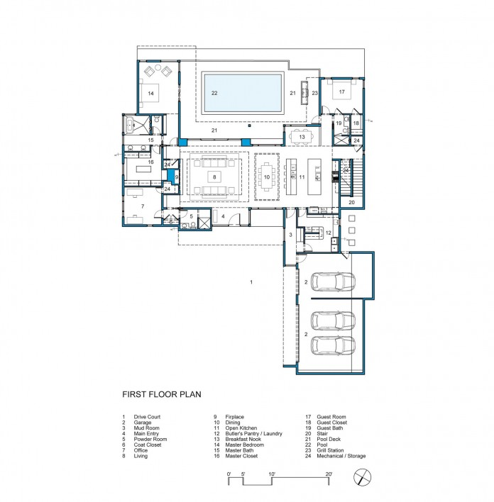 Contemporary luxury lakeway residence by clark richardson for Richardson homes floor plans