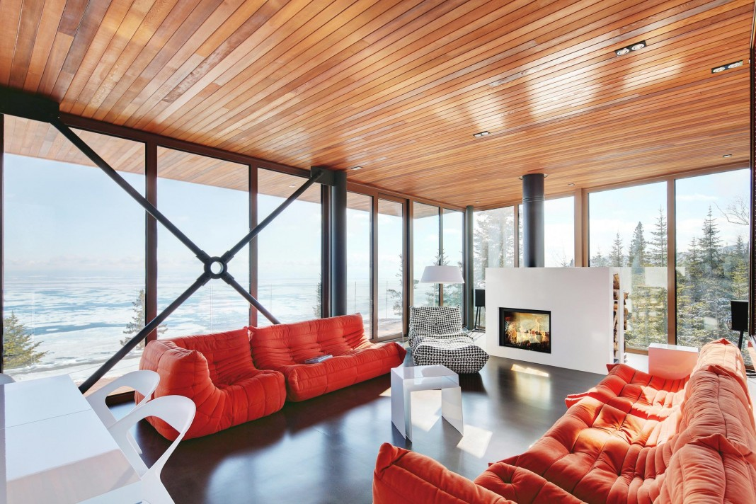 Grands Jardins Mountain Residence overlooking the St. Lawrence River by Bourgeois Lechasseur Architectes