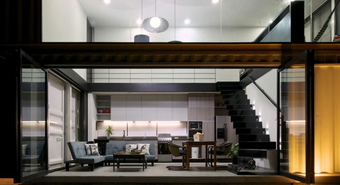 Huiini-House-made-of-four-shipping-containers,-located-in-the-Primavera-forest-by-S+-Diseno-14