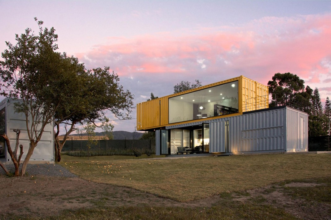 House Made Of Shipping Containers huiini house made of four shipping containers, located in the