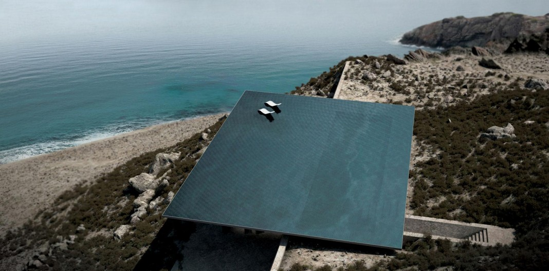 Rooftop 360 degree infinity pool of Mirage house by Kois Associated Architects