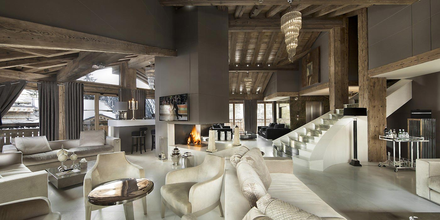 Tahoe luxury chalet in courchevel 1850 caandesign for Architectural designs for chalets