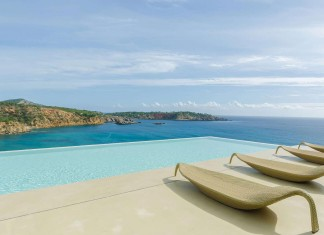 Villa Majesty boasts spectacular views of the ocean, located in Ibiza, Spain