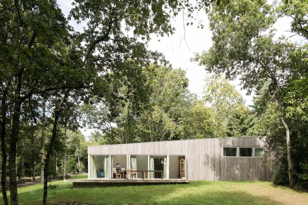 1 story small and simple wood JJ&S.M House by Atelier Mima