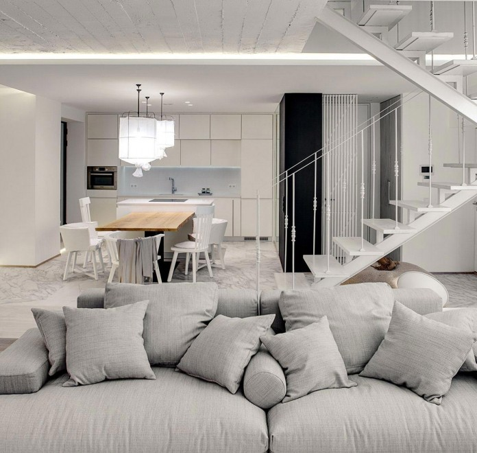 A Bright White Home In Kiev By Form Architectural Bureau Caandesign Architecture And Home