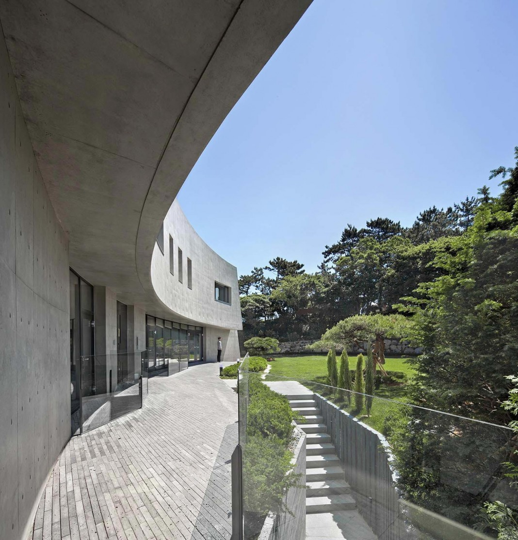 Concrete Ultramodern Sondo House in South Korea by architect-K