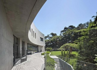 Concrete Ultramodern Sondo House in South Korea by architect-K
