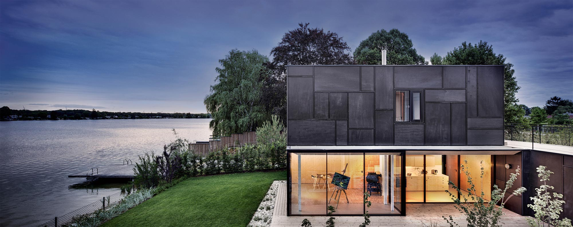 horseshoe shaped lake home by maximilian eisenk ck caandesign architecture and home design blog. Black Bedroom Furniture Sets. Home Design Ideas